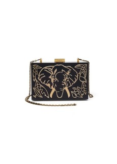 VALENTINO GARAVANI Elephant Wood & Metal Clutch