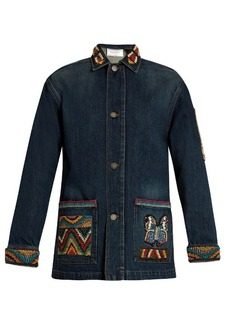 Valentino Embellished denim jacket