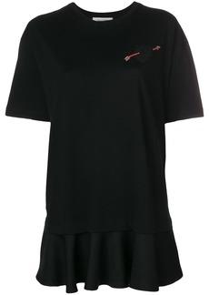 Valentino embellished heart T-shirt - Black