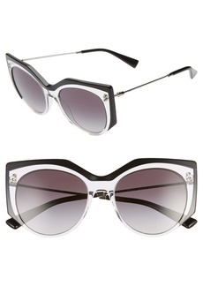 Valentino Embrace 53mm Gradient Sunglasses