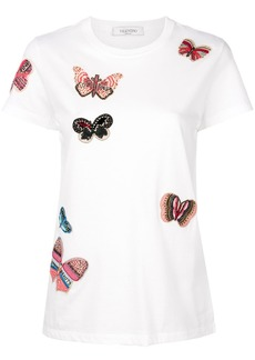 Valentino embroidered butterfly T-shirt