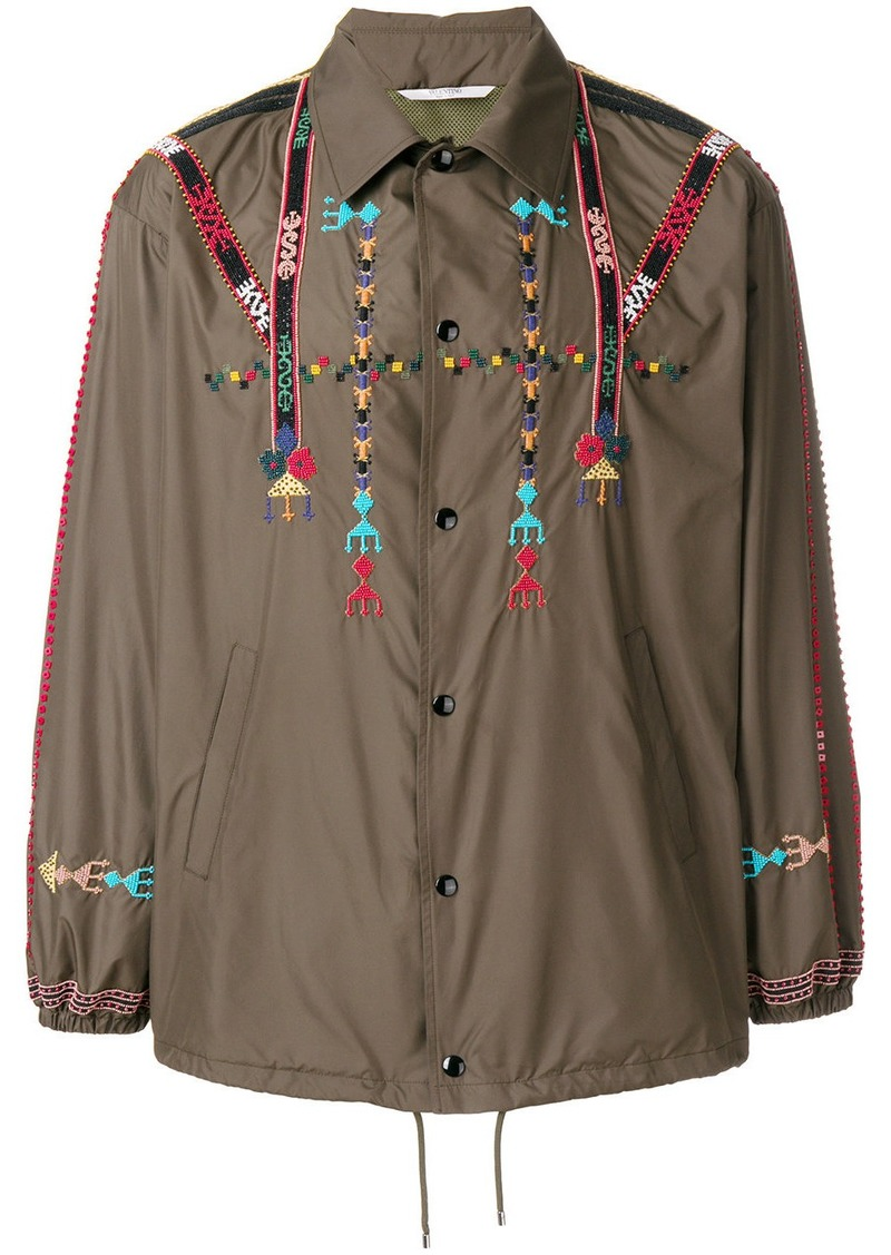 Valentino Valentino embroidered jacket - Green  2f9595d46