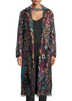 Embroidered Overcoat