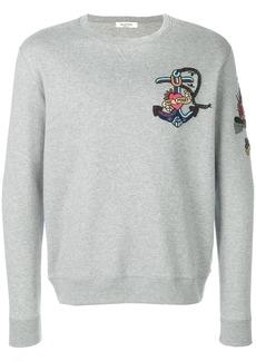 Valentino embroidered tattoo sweatshirt - Grey