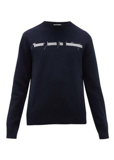 Valentino Embroidered virgin-wool sweater