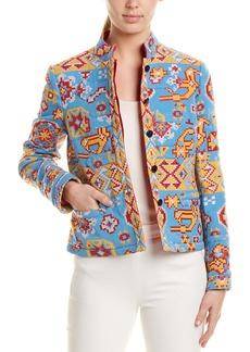 Valentino Embroidered Wool & Silk-Blend Blazer