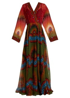 Valentino Enchanted Wonderland V-neck silk gown