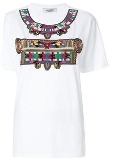 Valentino embroidered pattern T-shirt - White