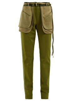 Valentino Exposed-pocket silk-blend trousers