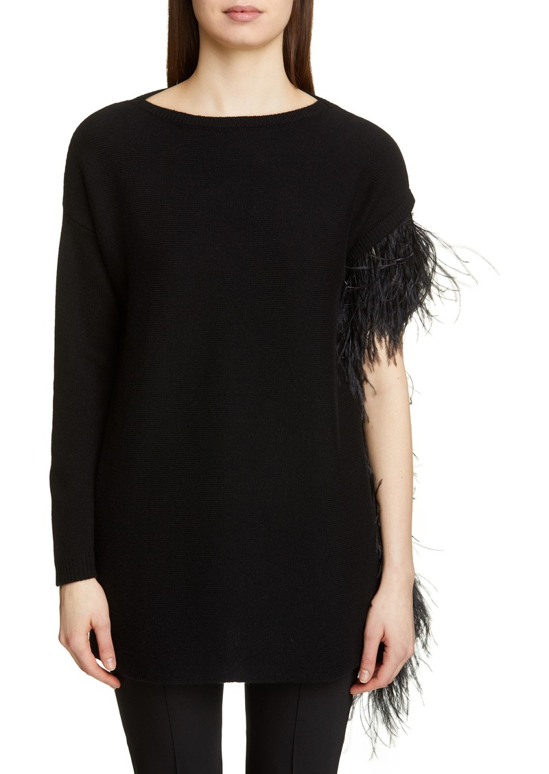 Valentino Feather Detail Cashmere Sweater