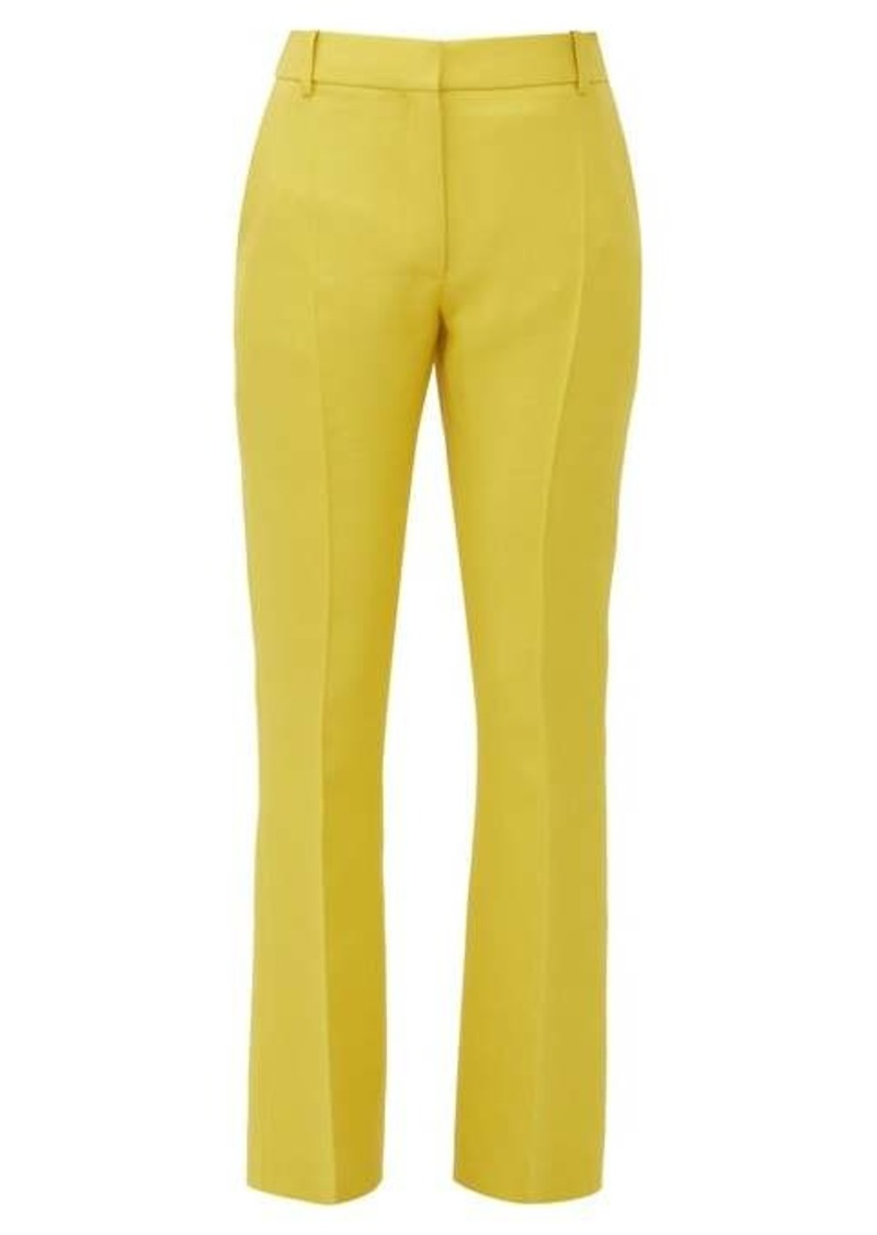 Valentino Flared-cuff virgin wool-blend twill trousers