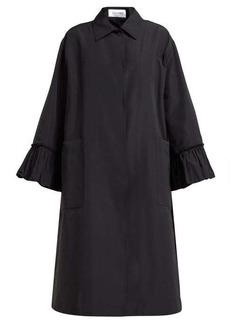 Valentino Flared-sleeve cotton-blend faille coat