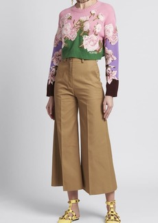 Valentino Floral-Embroidered Sweater