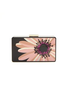 Valentino Floral perspex minaudière clutch