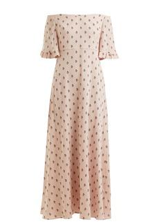 Valentino Floral-print silk-crepe dress