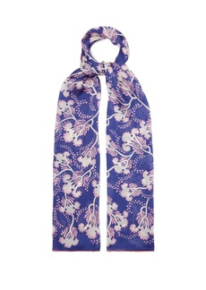 Valentino Floral-print silk scarf