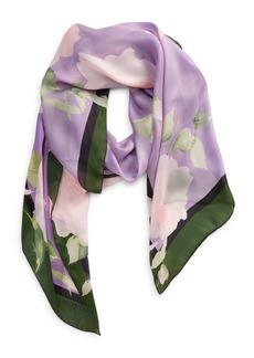 Valentino Floral Print Silk Scarf