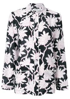 Valentino floral pyjama style top - Black