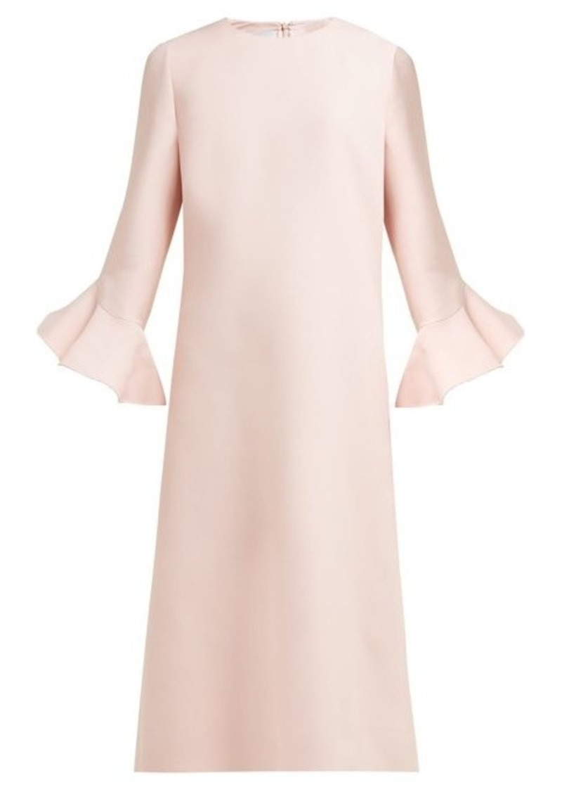 Valentino Fluted wool and silk-bend midi dress