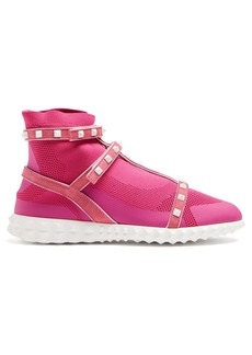 Valentino Free Rockstud body-tech high-top trainers