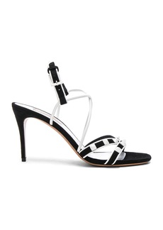 Valentino Free White Rockstud Ankle Tie Sandals