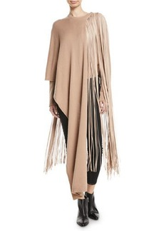Valentino Fringed Cashmere Wrap Sweater