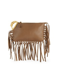 VALENTINO GARAVANI Fringed Leather Clutch