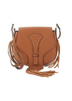 VALENTINO GARAVANI Fringed Leather Saddle