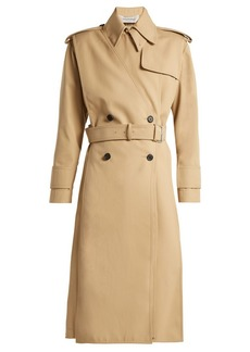 Valentino Gabardine double breasted trench coat