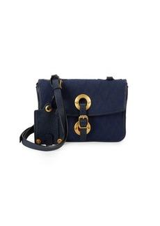 Valentino Argyle Leather Crossbody Bag