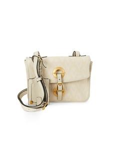 Valentino Argyle Leather Shoulder Bag