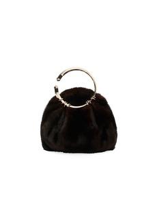 Valentino Garavani Bebop Loop Fur Clutch Bag