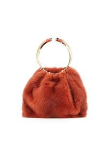 Valentino Garavani Bebop Loop Mink Fur Top-Handle Bag