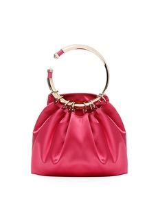 Valentino Garavani Bebop Loop Satin Clutch Bag