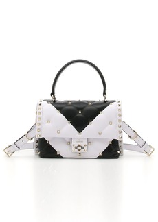 VALENTINO GARAVANI Bicolor Candystud Lambskin Top Handle Satchel