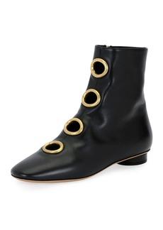 Valentino Bit Hoop Leather Bootie