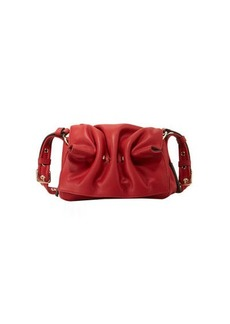 Valentino Garavani Bloomy Mini Gathered Leather Shoulder Bag