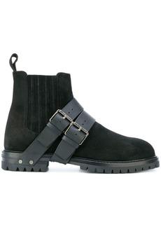 Valentino Garavani buckle strap detailed boots