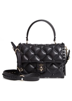 VALENTINO GARAVANI Candystud Leather Top Handle Bag