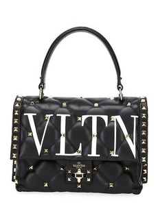 Valentino Garavani Candystud Medium VLTN Logo Top-Handle Bag