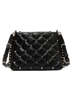 VALENTINO GARAVANI Candystud Quilted Leather Shoulder Bag