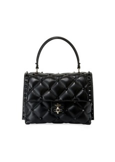 Valentino Garavani Candystud Quilted Leather Top-Handle Bag - Tonal Studs