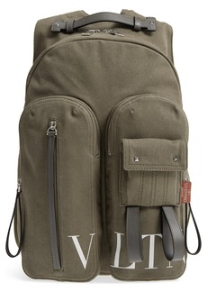 VALENTINO GARAVANI Canvas Military Backpack