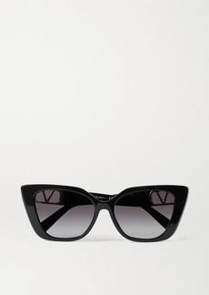 Valentino Garavani Cat-eye Acetate And Gold-tone Sunglasses