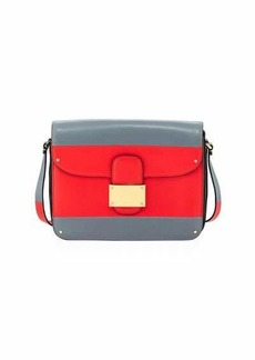 Valentino Garavani Colorblock Leather Shoulder Bag
