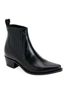 Valentino Garavani Cowboy Leather Ankle Booties