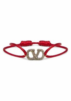 Valentino Garavani Crystal VLOGO Cord Bracelet