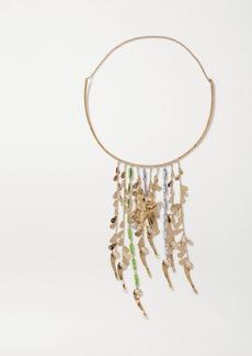 Valentino Garavani Cult Gold-tone Crystal Necklace