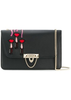 Valentino Garavani Demilune embellished shoulder bag