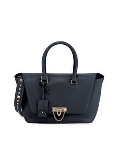 Valentino Garavani Demilune Small Double-Handle Flap-Top Bag